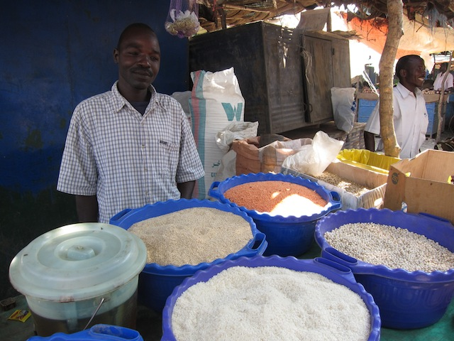 Another picture from the Suk (market). This man was very kind allowing me to take his picture with his spice and grain shop. I loved these blue pales.