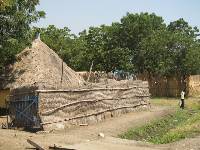 A typical thatch home in Malakal.