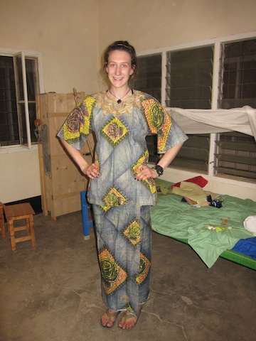 I was so psyched to buy this skirt and top at the Friday market in my last day in Malakal.